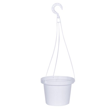 Simple Hanging Plastic Flower Plant Pot Spider Plant Basket Planter Holder Home Decoration - White