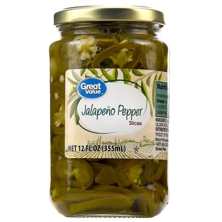 Great Value Jalapeno Pepper Slices, 12 -