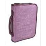Christian Art Gifts 367521 Bi Cover Embroidered Suede Serenity Prayer Large Pur
