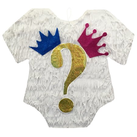 Prince or Princess Baby Onesie Gender Reveal Pinata - Prince And Princess Party