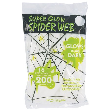 Super Glow Stretchy White Spider Web - Stretches Up to 200 Square Feet!, Realistic -- Stretch to Make it Look Like a Real Spider Web By Halloween Decoration](Real Looking Halloween Decorations)
