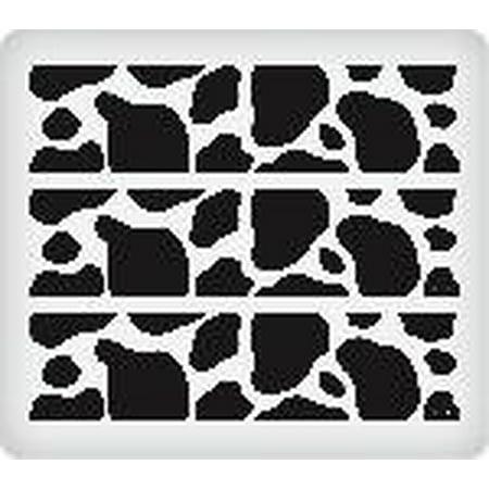 Black And White Borders (Baby Barnyard Black and White Cow Spots Edible Designer Prints Cake)