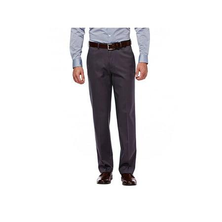 Haggar Men's Premium No Iron Khaki Flat Front Pant Classic Fit (Best No Iron Dress Pants)