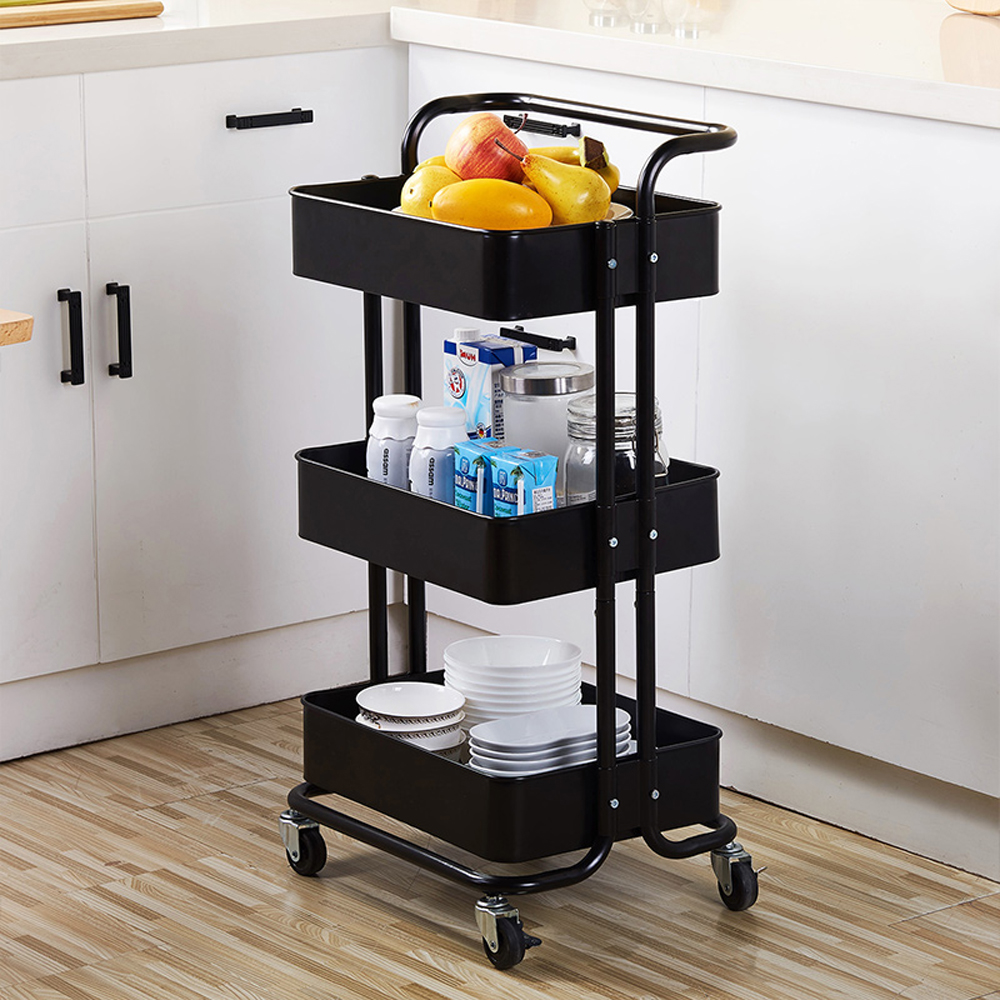 Lowestbest 3-Tier Kitchen Island for Home, Kitchen Cart on ...