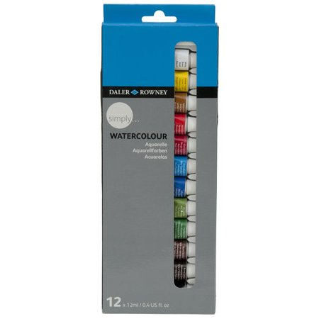 Daler-Rowney Simply Watercolor Paint Set, 12 Piece