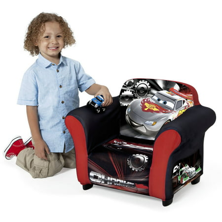 Embroidered Kid Chair (Disney Pixar Cars Kids Upholstered Chair with Sculpted Plastic Frame by Delta)