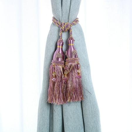 Curtain Drapery Hanging Beads Tassel Tiebacks 2Pcs - image 1 de 3
