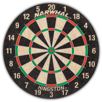 Narwhal Kingston Dartboard; Official Size, Self-Healing Board is 18 In. by 1.5 In.