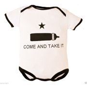 """Tiny Trooper """"Come and Take It"""" Baby Bodysuit 6-9M"""