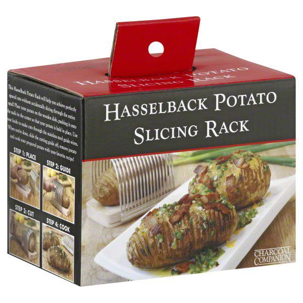The Charcoal Companion Hasselback Potato Slicing Rack, CC2031