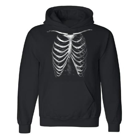 Rib Cage Skeleton Unisex Hoodie Funny Halloween 2017 Costume Sweater Black Small (Bts 2017 Halloween)