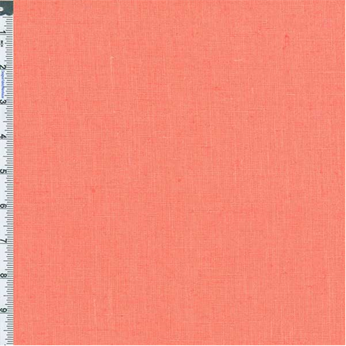 Salmon Pure Linen, Fabric Sold By the Yard