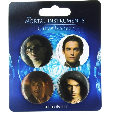 The Mortal Instruments City of Bones 4-Piece Button -