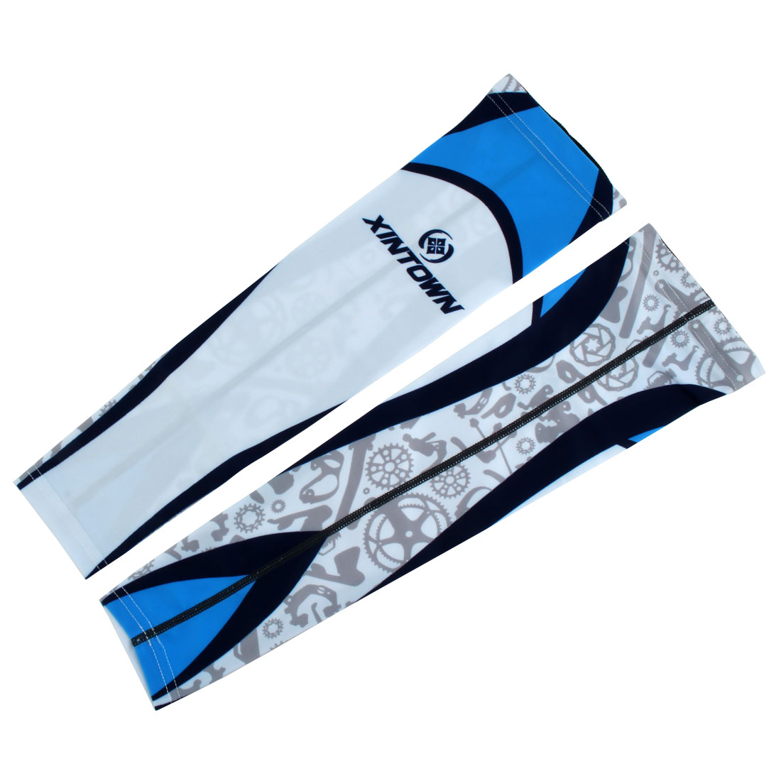 XINTOWN Authorized Unisex Cycling Football Arm Sleeves Cover Warmer #4 M Pair by Unique-Bargains