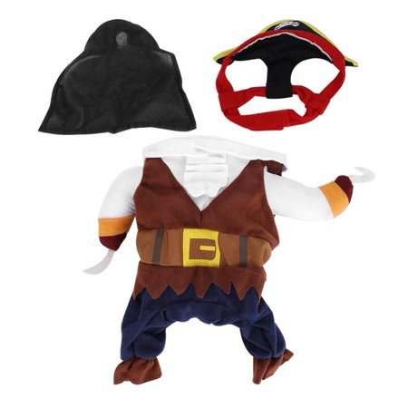Lv. life Pet Clothes Pirate Dog Costume Outfit Fashion Skin-friendly for Christmas, Skin-friendly Pet Pirate Costume, Fashion Dog Outfit (Pirate Costume For Dogs)