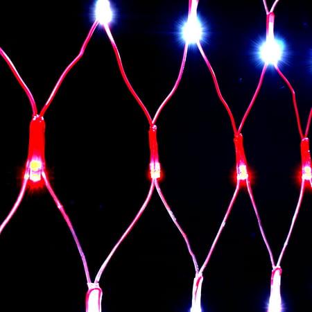 LED Flag Net Lights American For Outdoor Indoor Decoration Waterproof 6.6*3.3FT - image 3 de 8