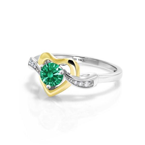 c7f90c3f8 Gem Stone King - 10K White Gold Fashion Right-Hand Ring White ...