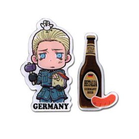 Pin Set - Hetalia - New Germany Beer Set 2 Metal Anime Gifts Licensed ge6790