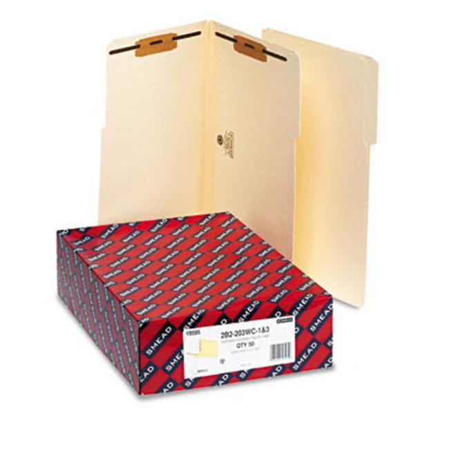 19595 2 Fasteners Legal Size Reinforced 1//3-Cut Tab Smead Fastener File Folder 1-1//2 Expansion 50 per Box