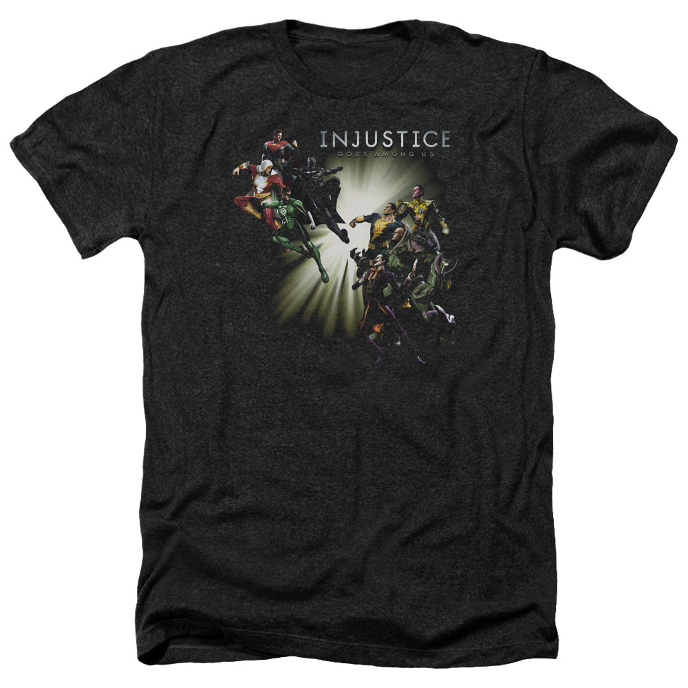 Injustice Gods Among Us Good Vs Evils Mens Heather Shirt