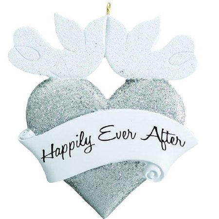 Happily Ever After Wedding Heart Doves Christmas Tree Ornament Decoration New