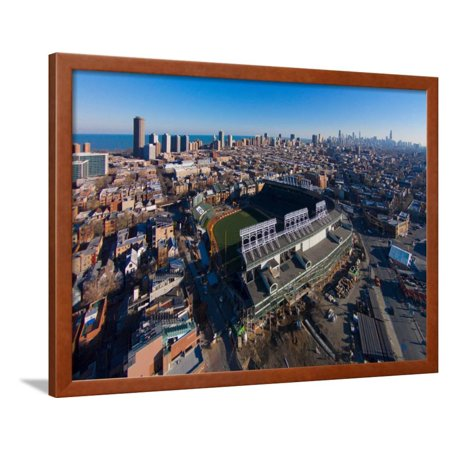 Aerial view of Wrigley Field, Chicago, Cook County, Illinois, USA Framed Print Wall Art Wrigley Field Framed Pictures