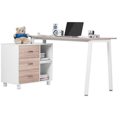 Merax Home Office Desk With Storage Cabinet Computer Corner Desk