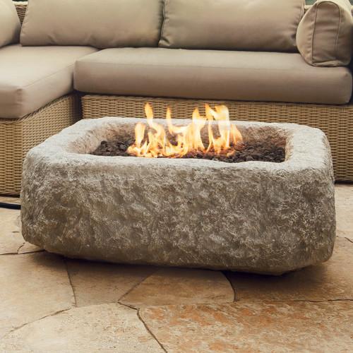 Real Flame Limestone Propane Fire Pit