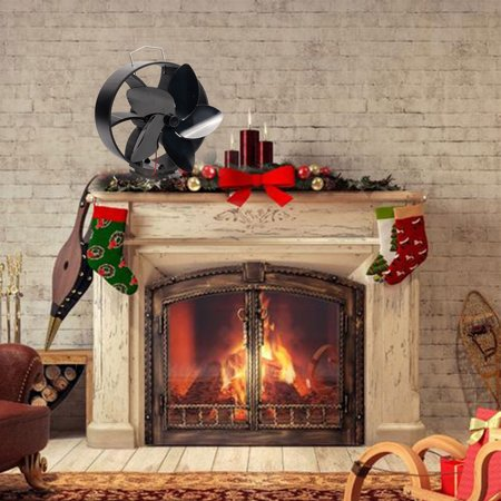 LeKing Fireplace Fan Intelligent Energy Saving Heat Powered Stove Fan No Electricity Consumption - image 6 of 9