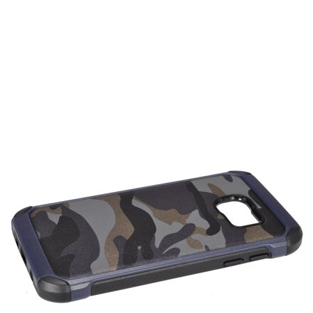 Insten Camouflage Hard Dual Layer Hybrid Case For Samsung Galaxy S7 - Gray/Black - image 3 de 4