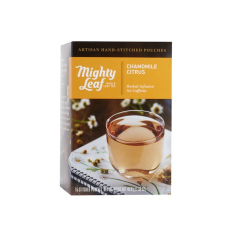 Mighty Leaf, Chamomile Citrus Stitched Tea Bags, 15