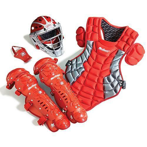 Prep Catcher's Gear Pack in Scarlet Red/Silver (Ages 12-15)