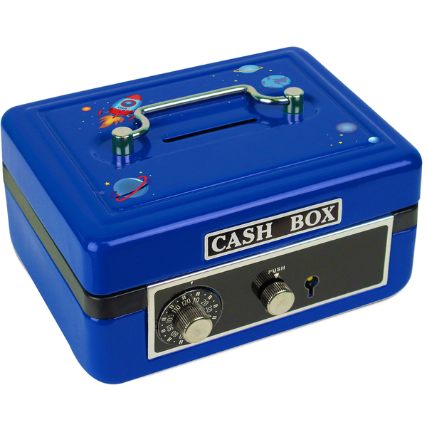 Personalized Rocket Cash Box