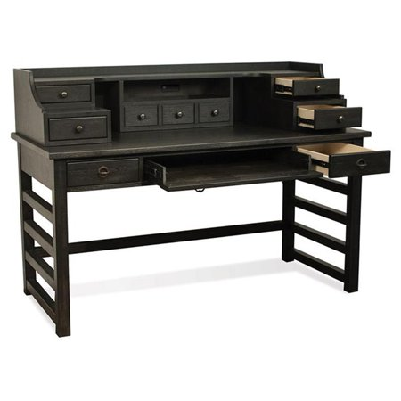Riverside Furniture Perspectives Writing Desk in Ebonized Acacia
