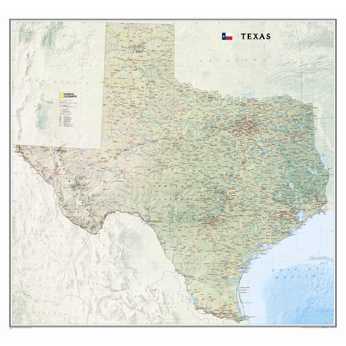 State Map Of Tx.National Geographic Maps Texas State Wall Map Walmart Com