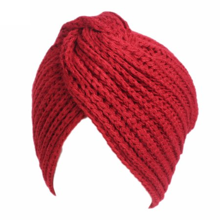 Women Fashion Winter Warm Knitted Cap Creative Cross Indian Style Thickened Hat