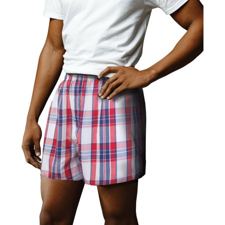 Big Mens Woven Boxers, 3 pack