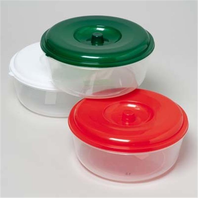 DDI 1226878 Christmas Colored Round Food Storage Container
