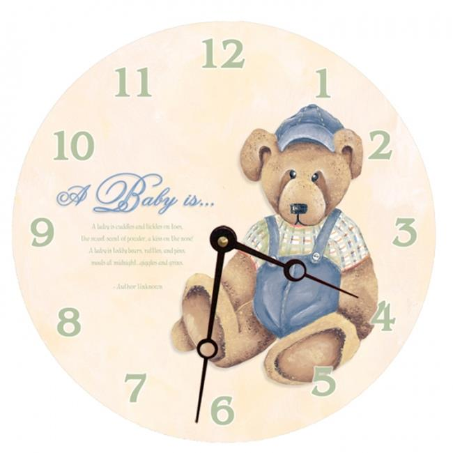 Lexington Studios 23074R Baby Bear Round Clock by Lexington Studios