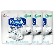 Royale Bathroom Tissue (4 Rolls) (Pack of 3)