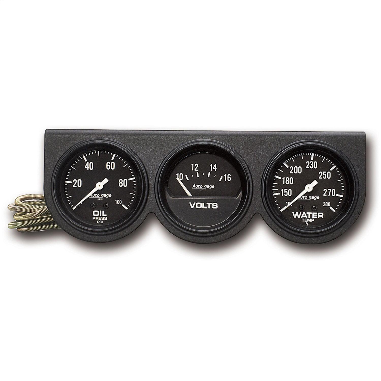 Auto Meter 2329 2-5//8IN OIL//VOLT//WATER