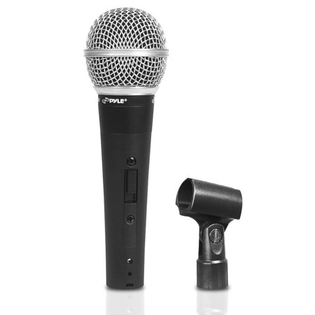 Pyle PDMIC60CL - Professional Dynamic Microphone, Unidirectional Handheld Mic (Includes Mic Clip Holder)