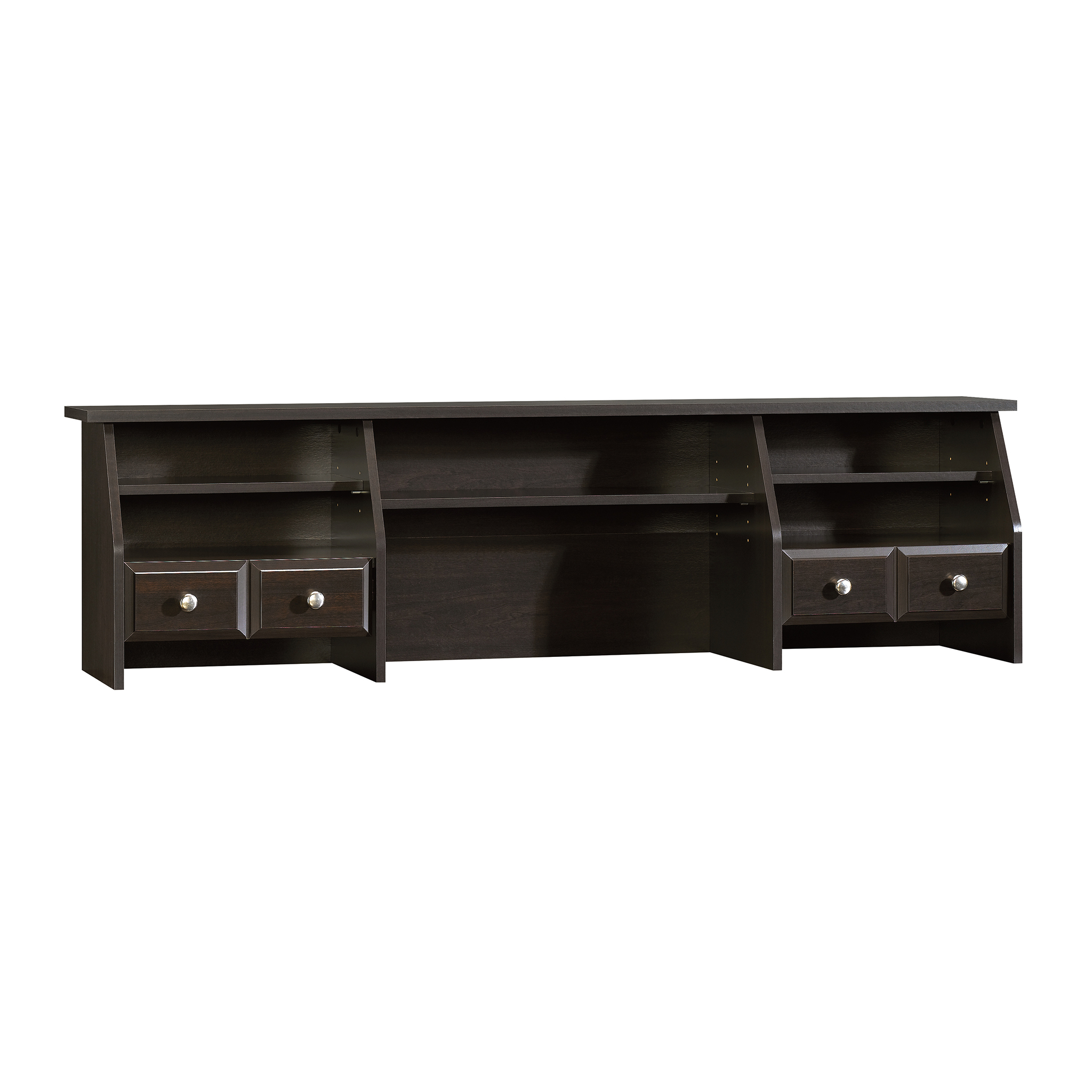Sauder Shoal Creek Organizer Desk Hutch, Jamocha Wood Finish