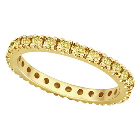 Fancy Yellow Canary Diamond Eternity Ring Band 14K Yellow Gold (0.51ct) Fancy Eternity Band