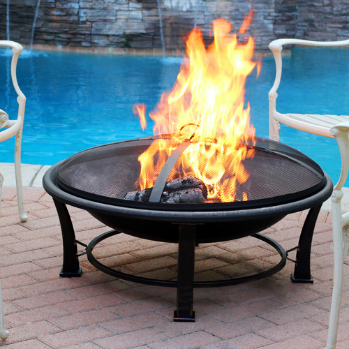 Jeco Inc. Golden Steel Wood Burning Fire Pit
