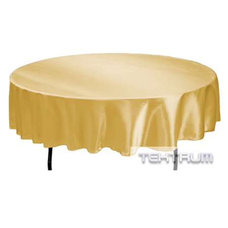 Tektrum 90 Inch Round Silky Satin Tablecloth Premium