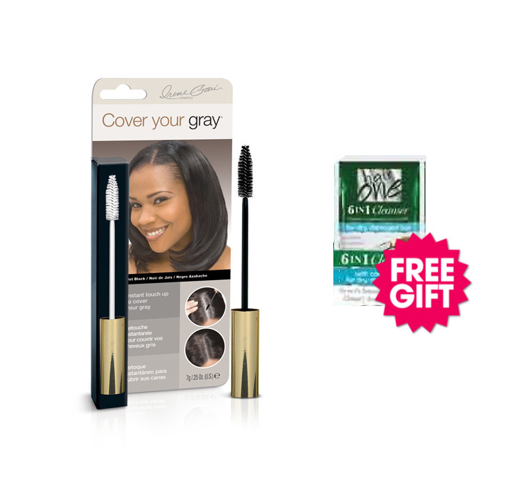 Cover Your Gray Brush In Wand - Jet Black with BONUS Coconut Hair Cleanser Packette