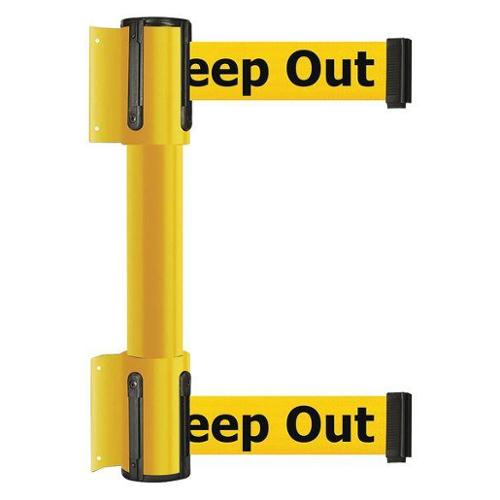 TENSATOR 896T2-35-STD-YDX-C Belt Barrier, 7-1/2 ft., Danger-Keep Out