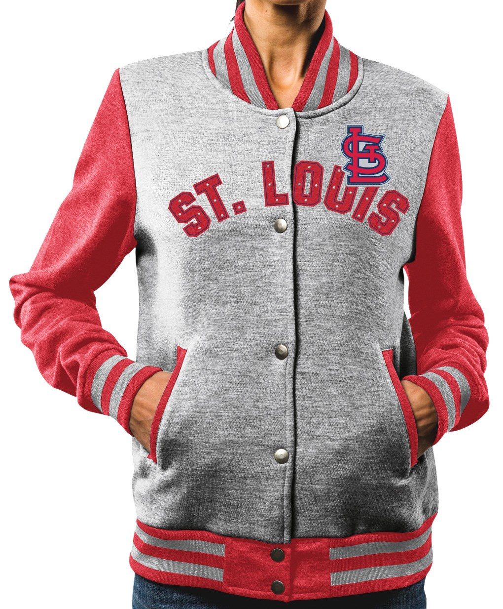 "St. Louis Cardinals Women's Majestic MLB ""Stolen Bases"" Bomber Jacket by Majestic"