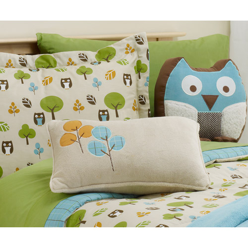 BKids In the Forest Owls Sheet Set, Twin
